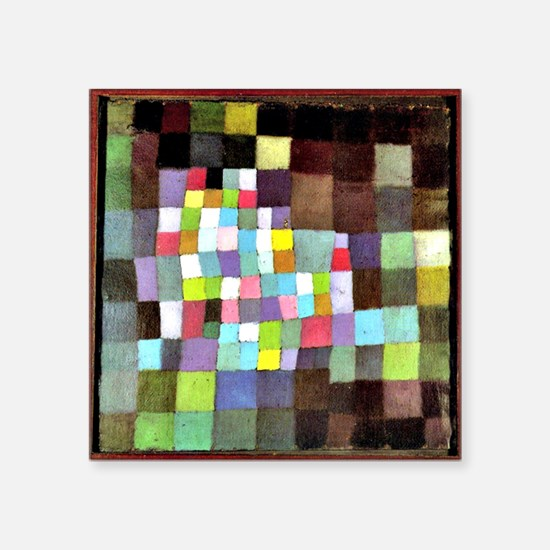 """Abstraction with Reference  Square Sticker 3"""" x 3"""""""
