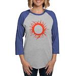 Solar Eclipse Womens Baseball Tee