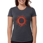 Solar Eclipse Womens Tri-blend T-Shirt