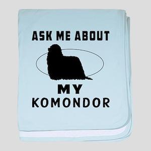 Ask Me About My Komondor baby blanket