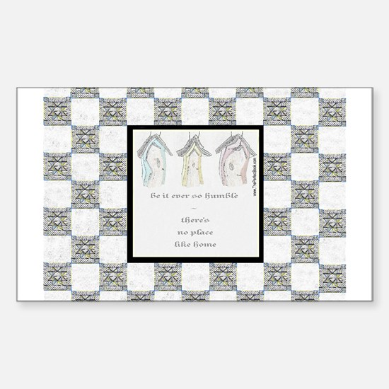 The Quilting Bee Rectangle Decal