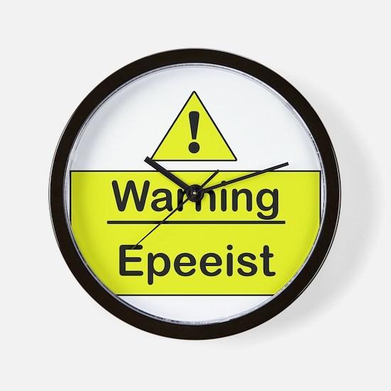Epee Warning -  Wall Clock