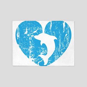 I love dolphins 5'x7'Area Rug