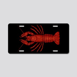 Crawfish Aluminum License Plate