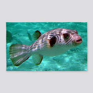 Striped Puffer Fish 3'x5' Area Rug