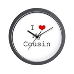I Heart My Cousin Wall Clock