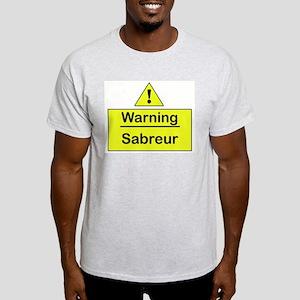 Sabre Warning -  Ash Grey T-Shirt
