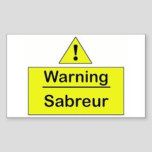 Sabre Warning - Rectangle Sticker