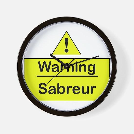 Sabre Warning -  Wall Clock