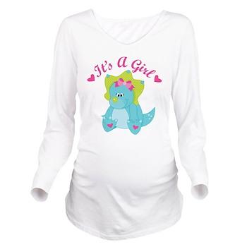its a girl pregnancy announcement dinosaur long sl it s a girl