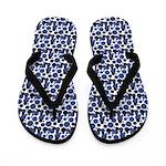 Polka Dots in Blue Black - Flip Flops