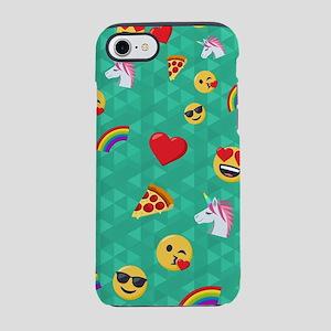 Emoji Blue Pattern iPhone 7 Tough Case