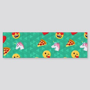 Emoji Blue Pattern Sticker (Bumper)