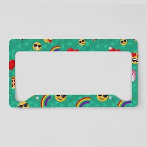 Emoji Blue Pattern License Plate Holder