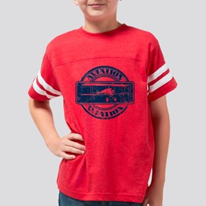BlueGrungeAviationBandgeVersi Youth Football Shirt