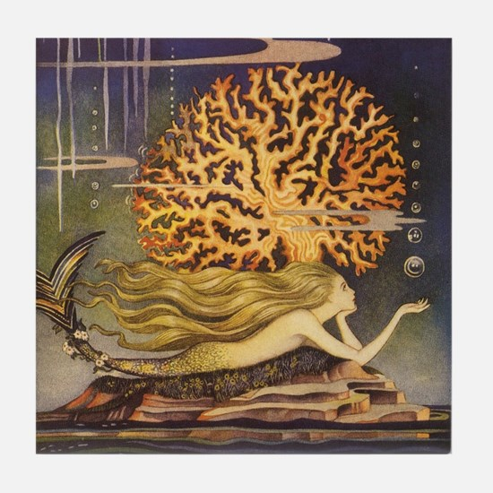 Vintage Mermaid Tile Coaster