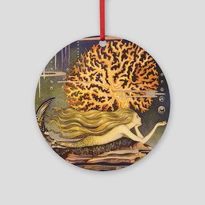Vintage Mermaid Round Ornament