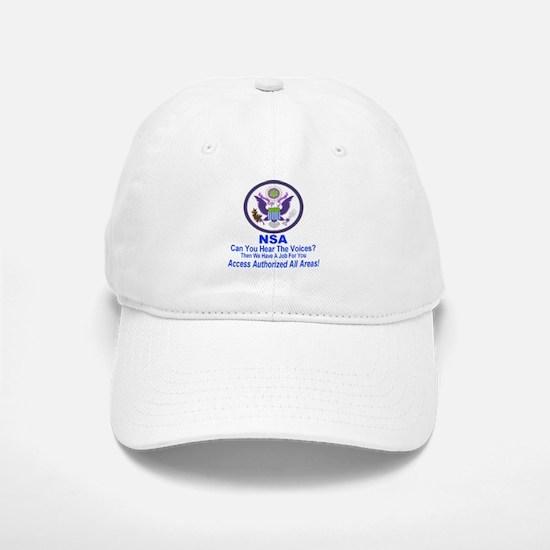 NSA Can You Hear The Voices? Baseball Baseball Cap