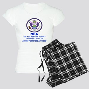 NSA Can You Hear The Voices? Women's Light Pajamas