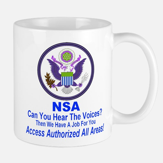 NSA Can You Hear The Voices? Mug