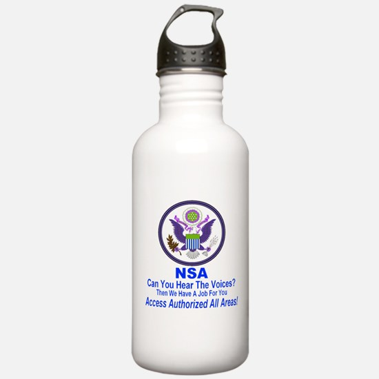 NSA Can You Hear The Voices? Water Bottle