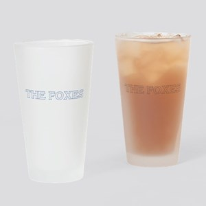 The Foxes White Drinking Glass