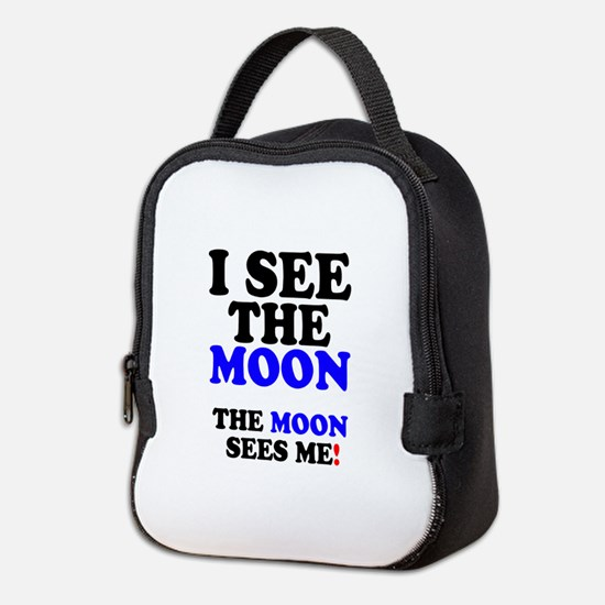 I SEE THE MOON! Neoprene Lunch Bag