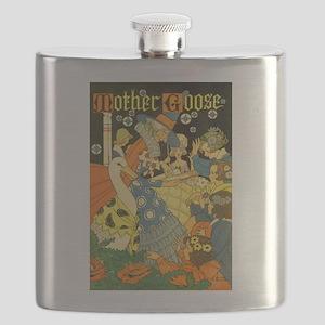 Vintage Mother Goose Flask