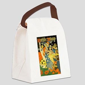Vintage Mother Goose Canvas Lunch Bag