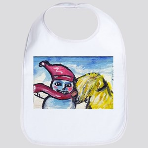 wheatie kisses snowman Bib