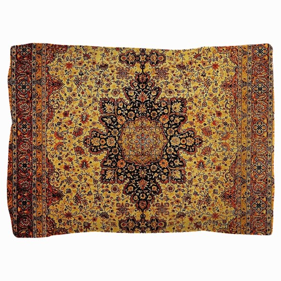 Persian Carpet Oriental Rug Pattern Pillow Sham
