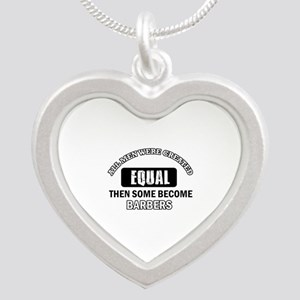 Cool Barbers designs Silver Heart Necklace