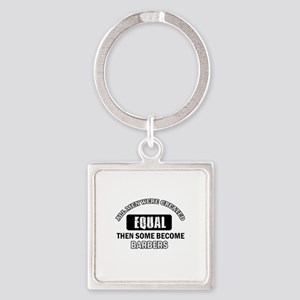 Cool Barbers designs Square Keychain