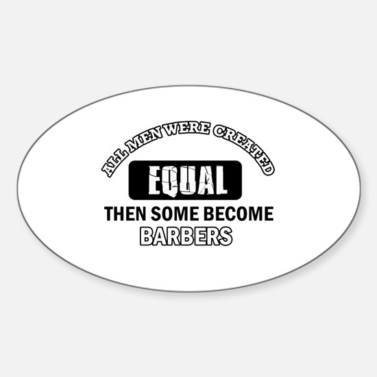 Cool Barbers designs Sticker (Oval)