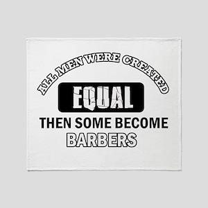 Cool Barbers designs Throw Blanket