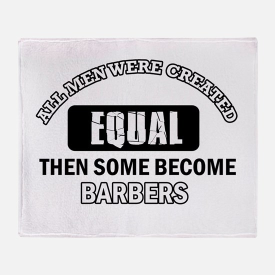 Cool Barbers designs Throw Blanket