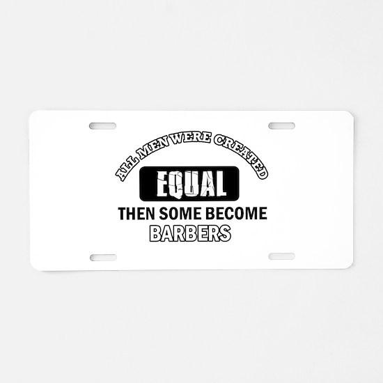 Cool Barbers designs Aluminum License Plate