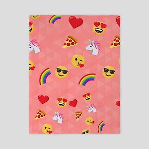 Emoji Pink Pattern Twin Duvet Cover