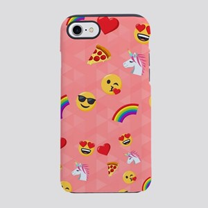 Emoji Pink Pattern iPhone 7 Tough Case