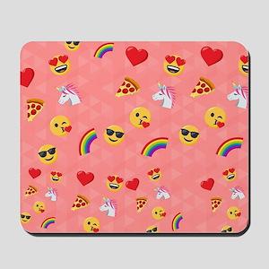 Emoji Pink Pattern Mousepad