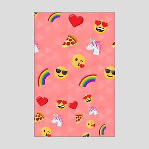 Emoji Pink Pattern Mini Poster Print