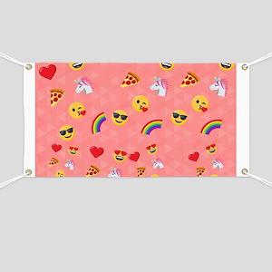 Emoji Pink Pattern Banner