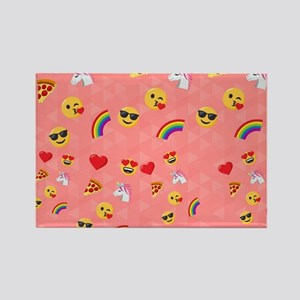 Emoji Pink Pattern Rectangle Magnet