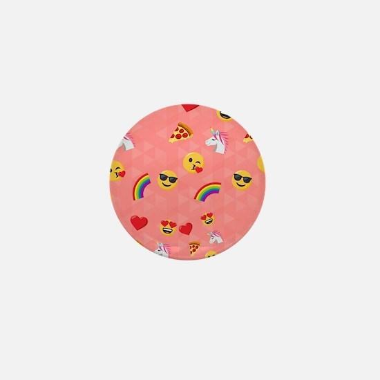 Emoji Pink Pattern Mini Button