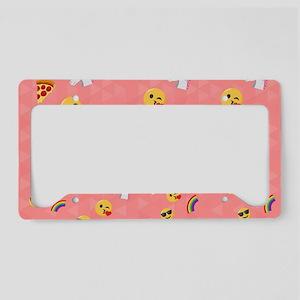Emoji Pink Pattern License Plate Holder