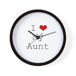 I Heart My Aunt Wall Clock