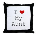 I Heart My Aunt Throw Pillow