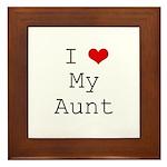 I Heart My Aunt Framed Tile