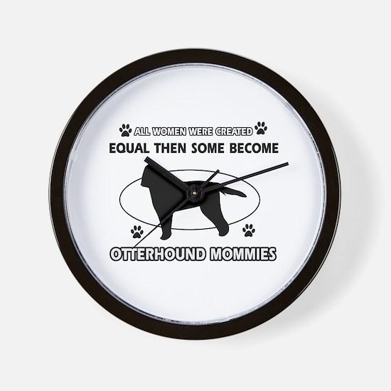 otterhound mommy designs Wall Clock