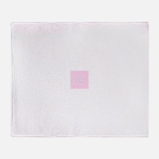 fight like a girl Throw Blanket